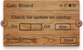 Calc Board Settings: Check for Updates