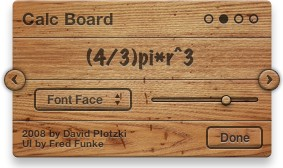 Calc Board Settings: Font face and size